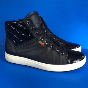 Ecco Soft 7 Quilted High Top Sneakers shoes sz 38